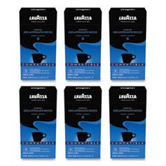 Lavazza Decaffeinato Ricco Espresso Coffee Capsules, Intensity 6, 0.17 oz, 10/Box, 6 Boxes/Carton