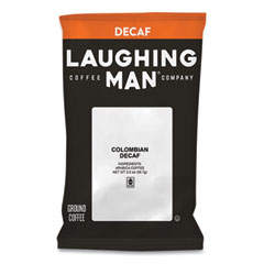 Laughing Man® Coffee Company Colombian Decaf Coffee Fraction Packs, 2 oz, 18/Box