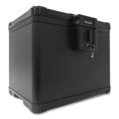 Honeywell Molded Fire and Water File Chest, 16 x 12.6 x 13, 0.6 cu ft, Black