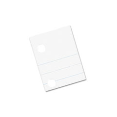 Composition Paper, Red Margin, 5-Hole Punched, 8 x 10-1/2, White, 500 Shts/Pk