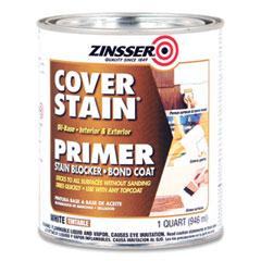 Zinsser® High Hide Cover-Stain Primer, Interior/Exterior, Flat White, 1 qt Bucket/Pail