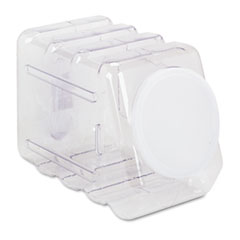 Interlocking Storage Container with Lid, Clear Plastic
