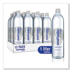 smartwater® Alkaline Vaper-Distilled Ionized Water, 33.8 oz Bottle, 12/Carton