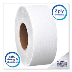 Scott® Essential JRT Jumbo Roll Bathroom Tissue, Septic Safe, 2-Ply, White, 1000 ft, 4 Rolls/Carton