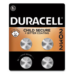 Duracell® Lithium Coin Battery, 2032, 4/Pack