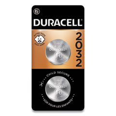 Duracell® Lithium Coin Batteries, 2032, 2/Pack