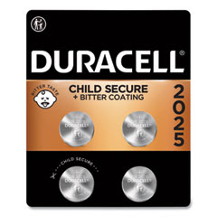 Duracell® Lithium Coin Batteries, 2025, 4/Pack