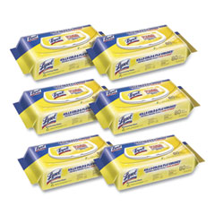 LYSOL® Brand Disinfecting Wipes Flatpacks, 6.69 x 7.87, Lemon and Lime Blossom, 80 Wipes/Flat Pack, 6 Flat Packs/Carton