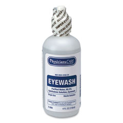 PhysiciansCare® by First Aid Only® First Aid Refill Components Disposable Eye Wash, 4 oz Bottle