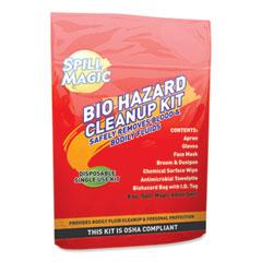 """Spill Magic™ Biohazard Spill CleanUp, 3/4"""" x 6"""" x 9"""""""
