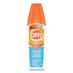 OFF!® FamilyCare Clean Feel Spray Insect Repellent, 6 oz Spray Bottle, 12/Carton