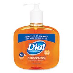 Dial® Professional Gold Antibacterial Liquid Hand Soap, Floral, 16 oz Pump, 12/Carton