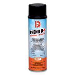 Big D Industries PHENO D+ Aerosol Disinfectant/Deodorizer, Citrus Scent, 16.5 oz Aerosol Spray Can, 12/Carton