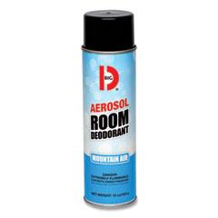 Big D Industries Aerosol Room Deodorant, Mountain Air Scent, 15 oz Can, 12/Box