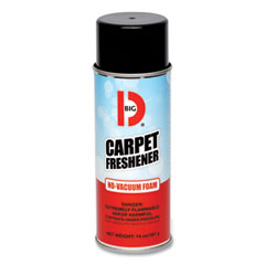 Big D Industries No-Vacuum Carpet Freshener, Fresh Scent, 14 oz Aerosol Spray, 12/Carton