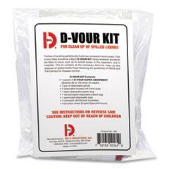 Big D Industries D'vour Clean-up Kit, Powder, All Inclusive Kit, 6/Carton