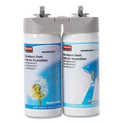 Rubbermaid® Commercial Microburst Duet Refills, Gentle Breeze/Linen Fresh, 3 oz Aerosol Spray, 4/Carton