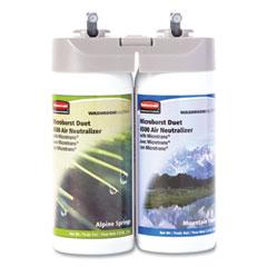 Rubbermaid® Commercial Microburst Duet Refills, Alpine Springs/Mountain Peaks, 3 oz Aerosol Spray, 4/Carton