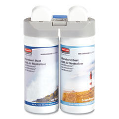 Rubbermaid® Commercial Microburst Duet Refills, Sea Mist/Ocean Breeze, 3 oz Aerosol Spray, 4/Carton