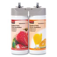 Rubbermaid® Commercial Microburst Duet Refills, Cotton Berry/Refreshing Citrus, 3 oz Aerosol Spray, 4/Carton