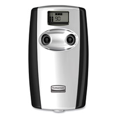 "Rubbermaid® Commercial Microburst Duet Odor Control System, 3.5"" x 5.2"" x 8.63"", Black/Chrome"
