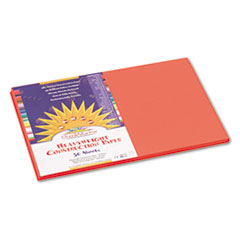 SunWorks® Construction Paper, 58 lbs., 12 x 18, Orange, 50 Sheets/Pack