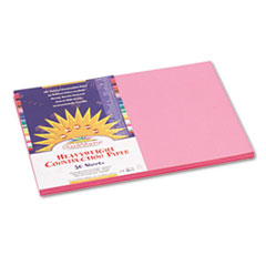 SunWorks® Construction Paper, 58 lbs., 12 x 18, Pink, 50 Sheets/Pack