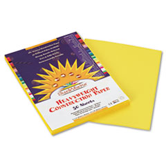 SunWorks® Construction Paper, 58 lbs., 9 x 12, Yellow, 50 Sheets/Pack