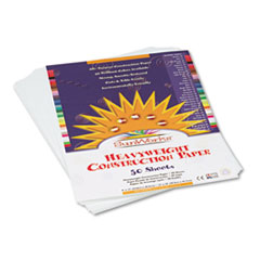 SunWorks® Construction Paper, 58 lbs., 9 x 12, Bright White, 50 Sheets/Pack