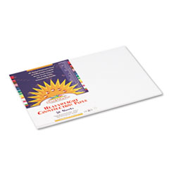 SunWorks® Construction Paper, 58 lbs., 12 x 18, Bright White, 50 Sheets/Pack