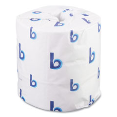 Boardwalk® Two-Ply Toilet Tissue, Septic Safe, White, 4 1/2 x 4 1/2, 500 Sheets/Roll, 96 Rolls/Carton