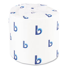 Boardwalk® One-Ply Toilet Tissue, Septic Safe, White, 1000 Sheets, 96 Rolls/Carton
