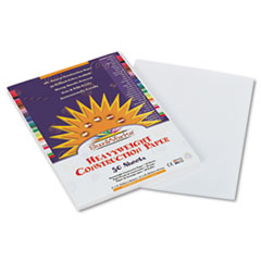 SunWorks® Construction Paper, 58 lbs., 9 x 12, White, 50 Sheets/Pack