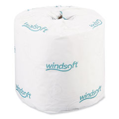 Windsoft® Bath Tissue, Septic Safe, 2-Ply, White, 4 x 3.75, 400 Sheets/Roll, 24 Rolls/Carton