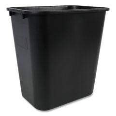 Boardwalk® Soft-Sided Wastebasket, 28 qt, Black