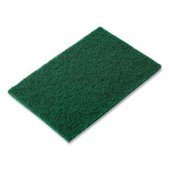 AmerCareRoyal® Medium-Duty Scouring Pad, 6 x 9, Green, 10 Pads/Pack, 6 Packs/Carton