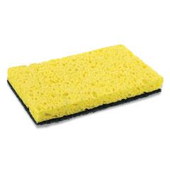 "AmerCareRoyal® Heavy-Duty Scrubbing Sponge, 3.5 x 6, 0.85"" Thick, Yellow/Green, 20/Carton"