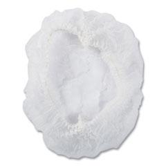 "AmerCareRoyal® Latex-Free Operating Room Cap, Pleated, Polypropylene, White, 21"", 100 Caps/Pack, 10 Packs/Carton"