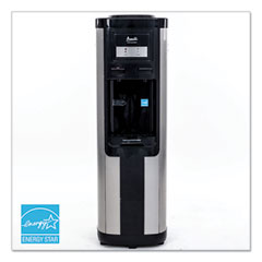 Avanti Hot and Cold Water Dispenser, 3-5 gal, 13 dia  x 38.75 h, Stainless Steel