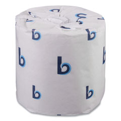 Boardwalk® Two-Ply Toilet Tissue, Standard, Septic Safe, White, 4 x 3, 500 Sheets/Roll, 96/Carton