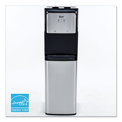 Avanti Hot and Cold Bottom Load Water Dispenser, 3-5 gal, 12.25 x 14 x 41.5, Black/Stainless Steel