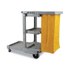 Boardwalk® Janitor's Cart, Three-Shelf, 22w x 44d x 38h, Gray