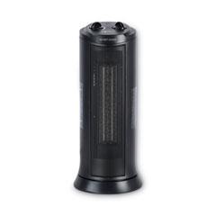 """Alera® Mini Tower Ceramic Heater, 7 3/8""""w x 7 3/8""""d x 17 3/8""""h, Black"""