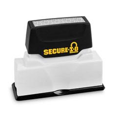 Secure-I-D Security Stamp, Obscures Area 2 1/2 x 5/16, Black