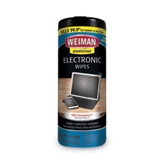 WEIMAN® E-tronic Wipes, 8 x 7, 30/Canister