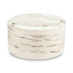 "Pathways Soak-Proof Shield Mediumweight Paper Plates, 8.5"" dia, Green/Burgundy, 125/Pack"