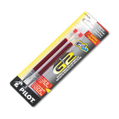 Pilot® Refill for Pilot Gel Pens, Extra-Fine Point, Red Ink, 2/Pack