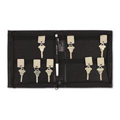 SecurIT® Security-Backed Zippered Case, 24-Key,Vinyl, Black, 7 x 1 x 8 3/8