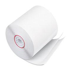 "Iconex™ Impact Printing Carbonless Paper Rolls, 3"" x 90 ft, White/White, 50/Carton"