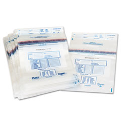 Clear Disposable Plastic Coin Tote, 50 lb Capacity, 6.5 mil, 13 x 22, 100/Box